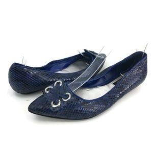 White House Black Market Women's Blue Ballet Flats